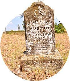 Une tombe du cimetière d'Aurora
