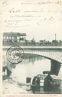 Tramway tombé du pont Canot en 1899